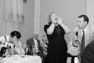 Peg and John Singing at Pat's Wedding