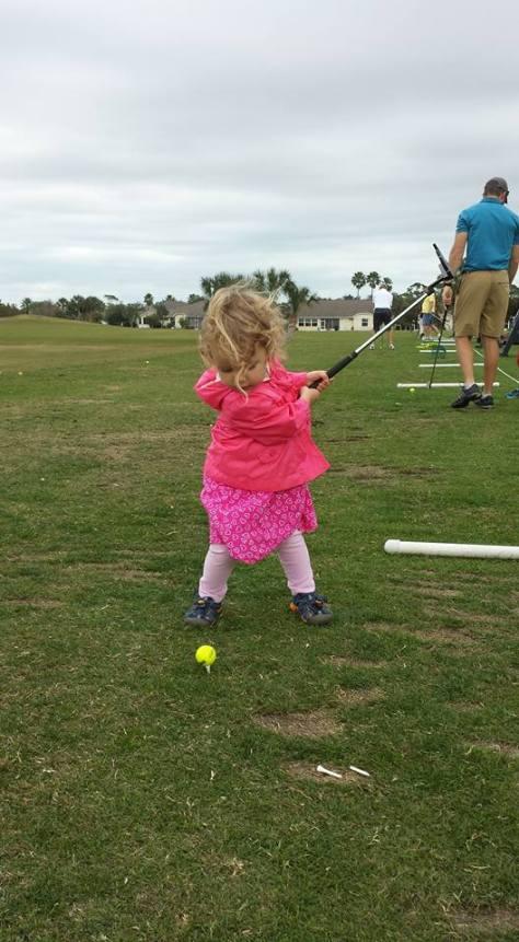 Nora Golfing