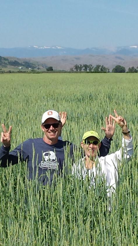 John and Rita in Field