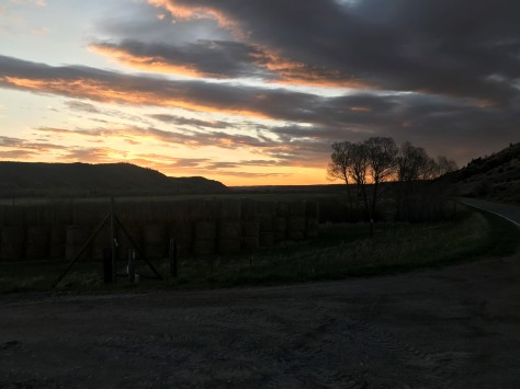Spring Sunrise and Hay